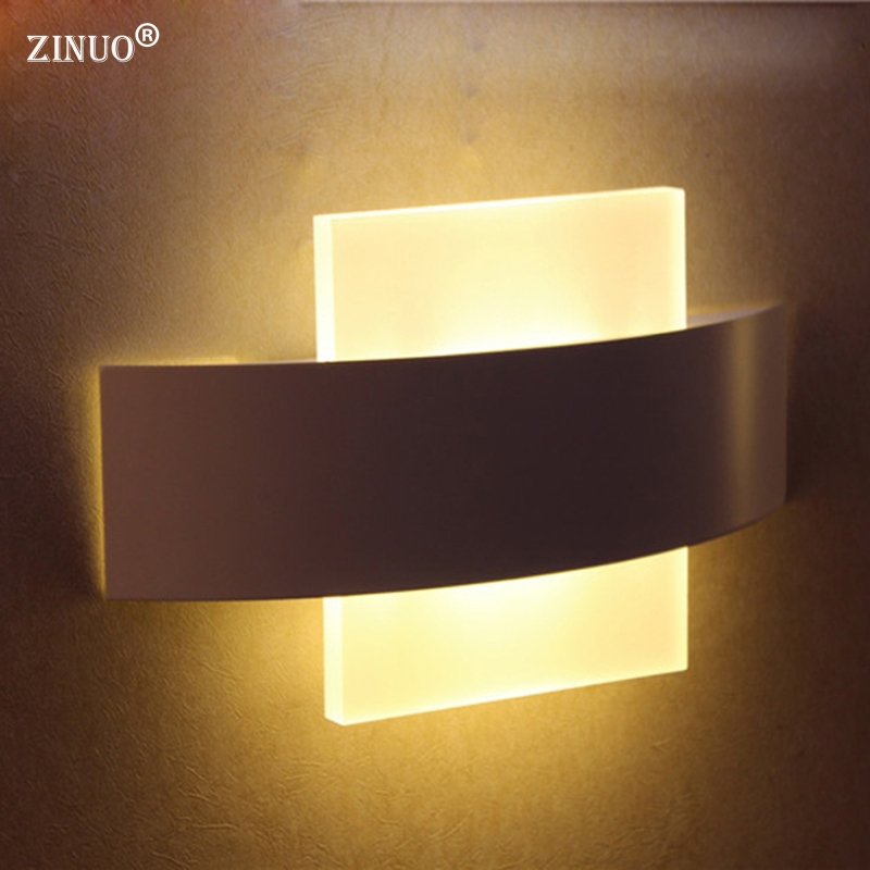 ZINUO 8W Modern Led Wall Lamps Acrylic For Bed Room Wall light Living Sitting Room Foyer Bathroom LED Wall Mounted Sconce AC220V wall light living sitting room foyer bedroom bathroom modern wall sconce light square led wall lamp bedroom 3 lights wall sconce