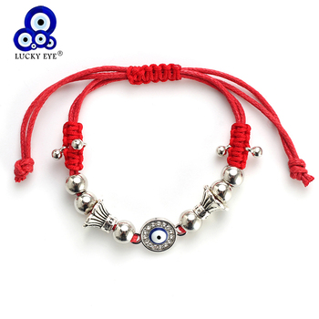 Lucky Eye Red Evil Eye Charms Bracelet String Rope Braided Beads Bracelets For Women Men Adjustable Jewelry Adjustable EY4852 bead