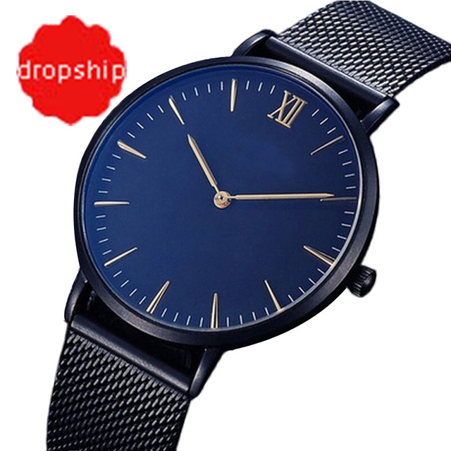 Fashion Casual watches Womens Men Fashion Classic Gold Geneva Quartz Stainless S