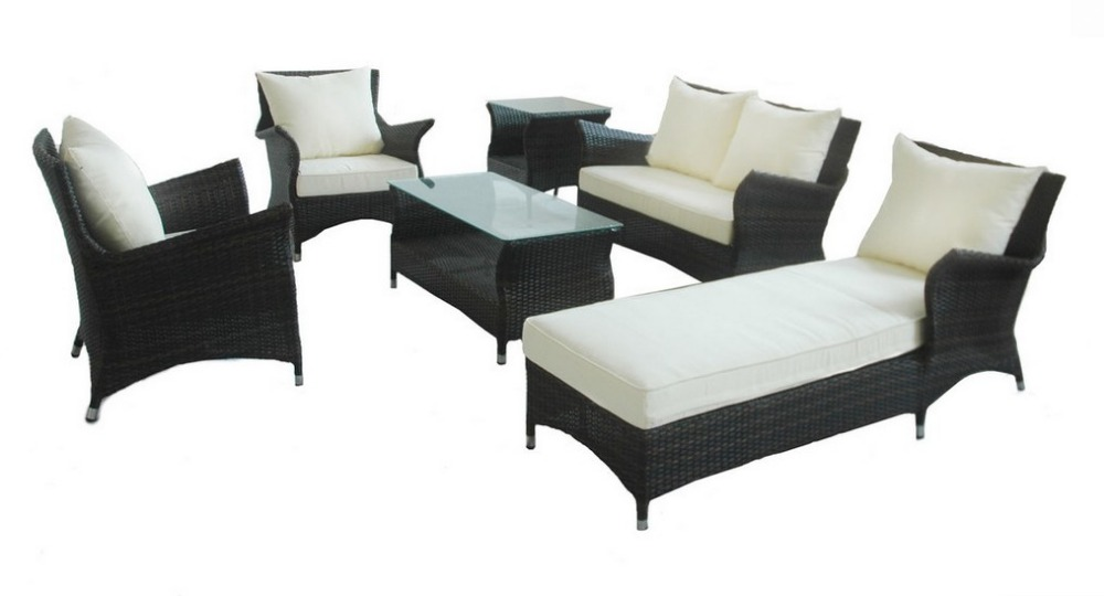 2016 High end luxury hotel patio furniture resin wicker sofa lounge  set(China (Mainland