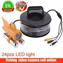 600TVL CCD подводная камера для рыбалки видео Камера Рыболокаторы 24 шт Белый светодиодный Огни ночного видения 30 м кабеля Рыбалка finder