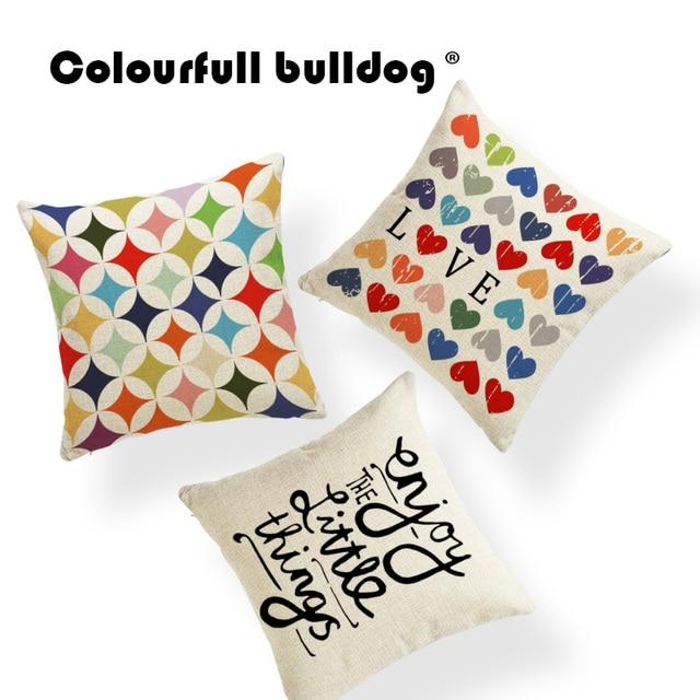 Geometry Cushion Cover Valentines Day Pillowcase Love European