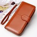 Aolen Womens Wallet 2016 Female Purse Messenger Bags Luxury Brand Wallets Designer Long Large Zipper Famous Ladies Leather