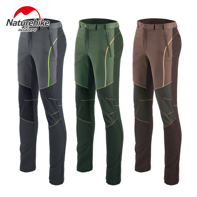 Naturehike factory sell Outdoor mountaineering sports pants Spell color quick drying pants for men women fall