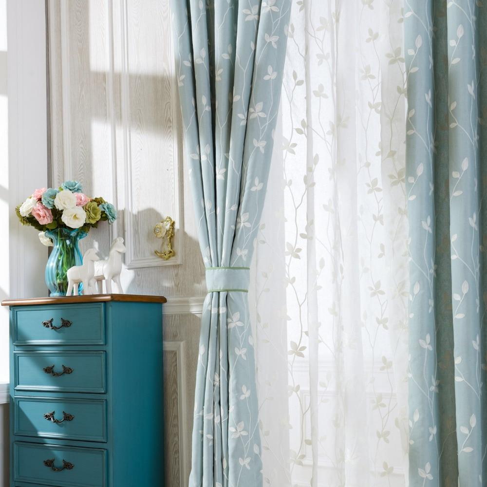 Sheer blue window curtains - Blue Window Curtains