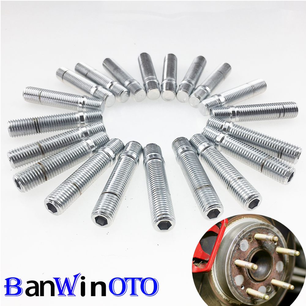 44mm Shank Length 60mm Total Length Compatible with many BMW BMW 1 3 5 Series Ensure Vehicle uses 12x1.5 Bolts Screw Adapter 12x1.5 to 12x1.5 20pcs Extended Silver Wheel Stud Conversion