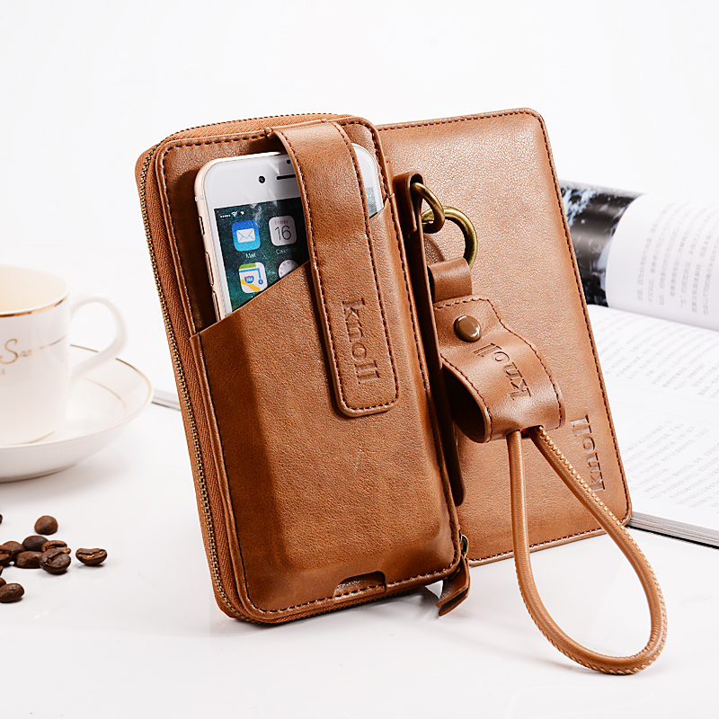 Universal Vintage Leather Flip Wallet Pouch for iPhone X 8 7 Plus 5 5S SE 6 6S 6Plus Phone Case with USB Cable for Apple Phone
