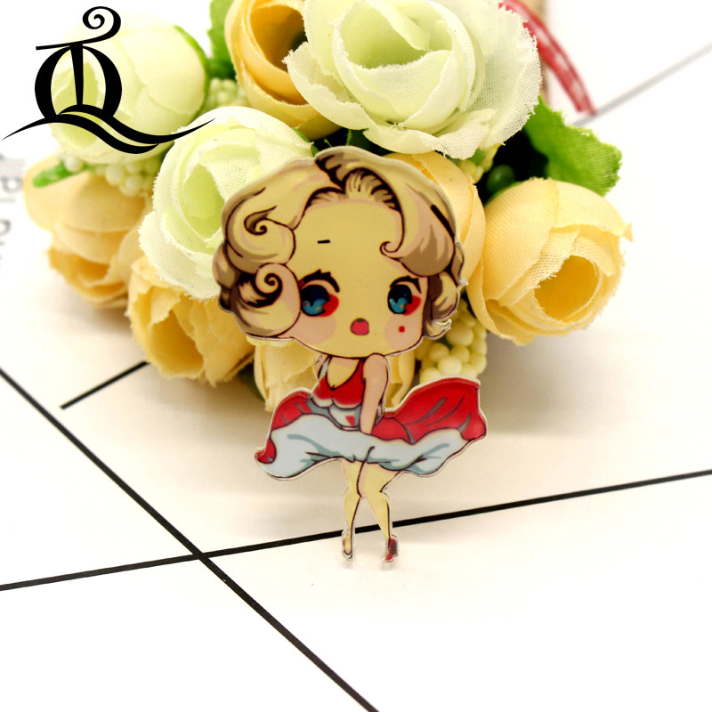 1pcs Sailor Moon Girls Cartoon Brooch Icons On Backpack Acrylic Badges Cartoon Pin Badges For Clothes Decoration Badge Z45 Badges