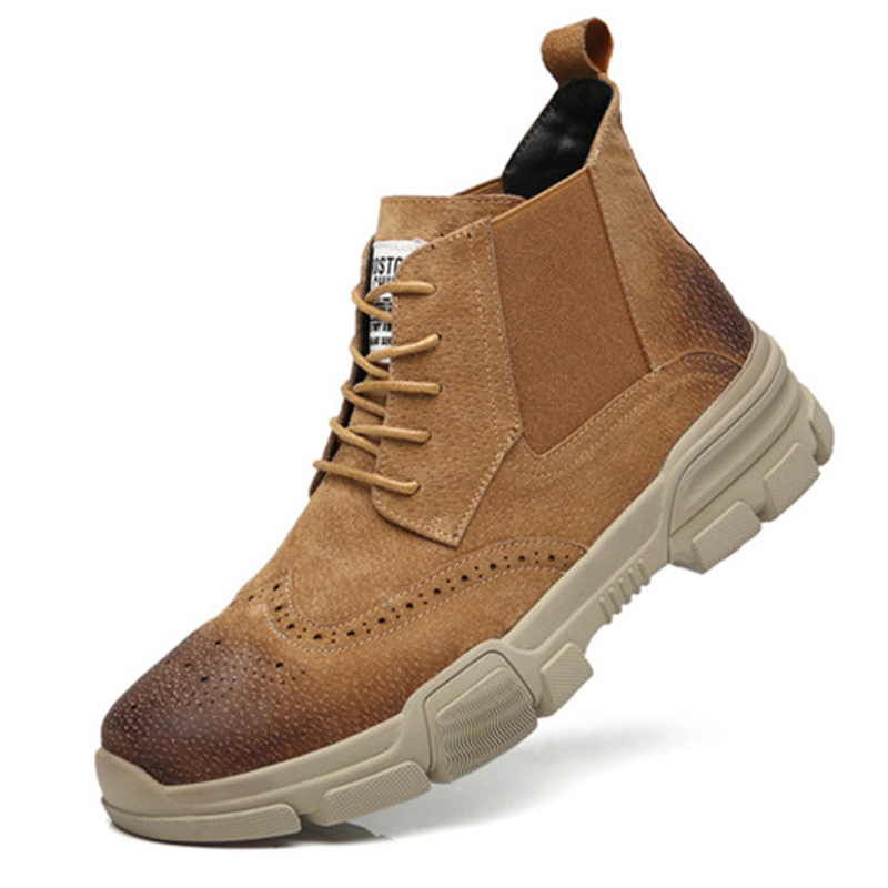Large Size 38 46 Genuine Leather Men Boots Autumn Ankle Boots Fashion Footwear Lace Up Shoes