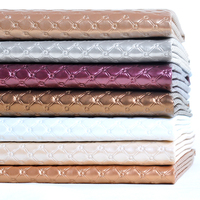 100 138cm Linggle Pattern PU Leather Fabric Furniture Faux Leather Wall Bed Background Decoration Sewing Material