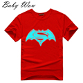 Fashion Noctilucent T-shirt Batman VSuperman Dawn Of Justice Pattern Teenager Tops  Big Boys Girls Fluorescence Tees tyh-70594