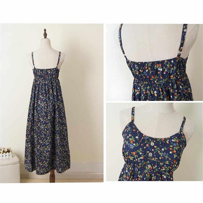 2018 여름 꽃 프린트 드레스 섹시한 여성 스파게티 스트랩 롱 드레스 모리 걸 boho 비치 드레스 파티 vestidos 플러스 사이즈 ab822