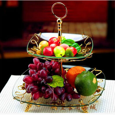 decorative glass tray