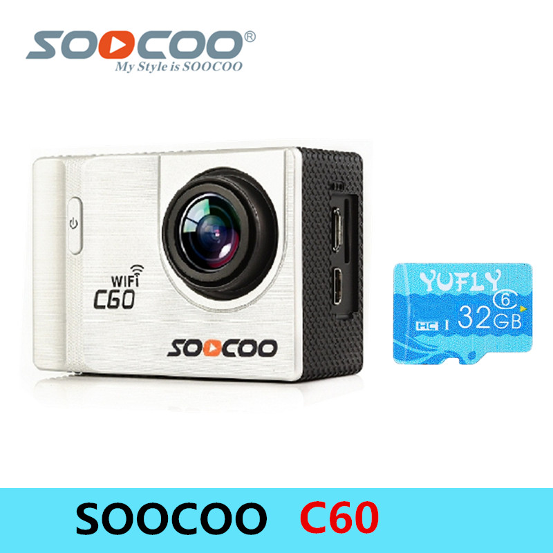 SOOCOO C60 Action camera 30M Waterproof FPV Sports Camera 4K WiFi 2.0-INCH Action Camera Anti-Shake Diving 170 Degree Wide Angle wholesale fpv camera mini 4k 170 degree wifi dv action sports camera video camcorder