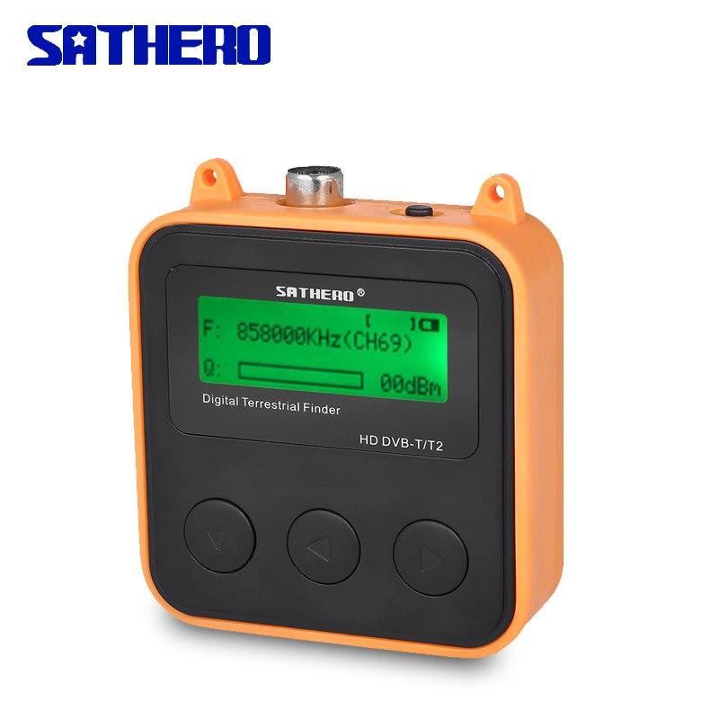 Sathero SH-110HD dvb-t dvb t2 localizador de alta definição portátil medidor de sinal de tv digital localizador