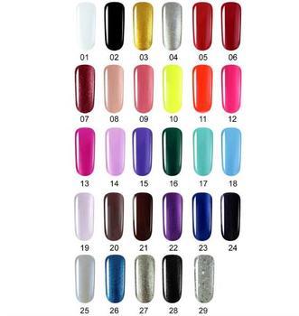 KADITION Gel Paint Nails Art Design Manicure Gellak 29 Color Soak Off Gel Nail Polish LED Nail Art Pure Color Uv Gel Varnish 1
