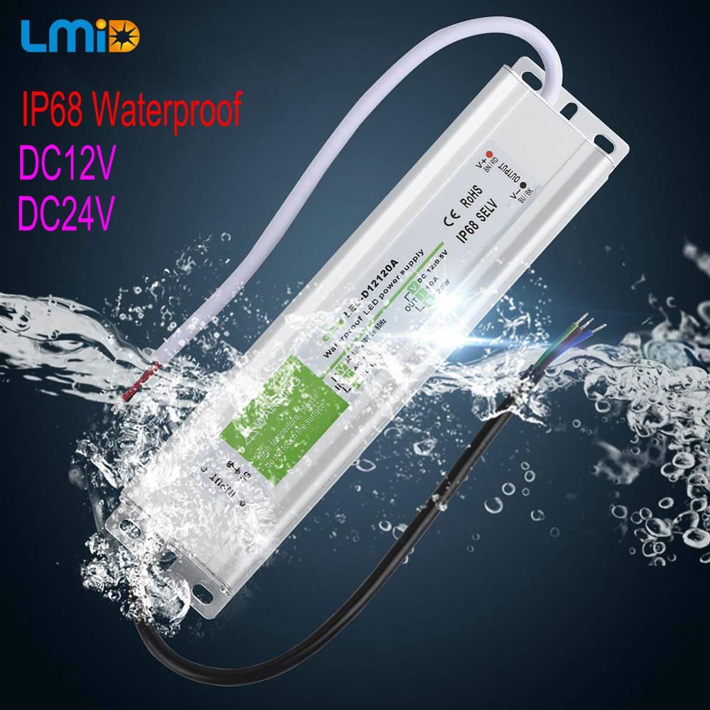 Image 2 - Controlador LED IP68 resistente al agua 50 60Hz 10W 30W 50W 60W 100W 120W 300W fuente de alimentación LED AC90 265V transformadores de iluminación para potencia LEDTransformadores de iluminación   -