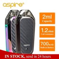 In Stock Aspire AVP AIO Kit Vape 2ml Capacity Pod 1.2ohm Nichrome Coil Built in 700mAh battery Electronic Cigarette Vapeador