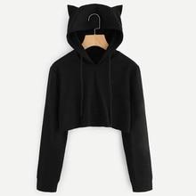 2019 Album Long Sleeve Cropped Hoodies Autumn Sweatshirt