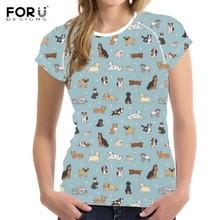 FORUDESIGNS Cartoon Rough Collie Printed T Shirt Women Kawaii Dog O-Neck Summer Tshirts For Female Funny Short Sleeve T-shirts