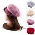 4Colors Women Beanie Crochet Faux Fur Hat Knitted Cap Casual Autumn Winter Warm Hat Beret Fashion