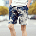 Men's shorts casual stitching 2017 summer new leisure wild men loose floral beach shorts plus size M-4XL