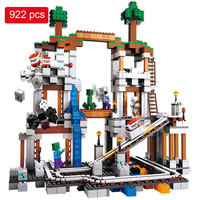 922pcs Mine Mountain Building Blocks My World Figures Bricks Educational Toys For Kids Compatible with Legoed Minecrafted City