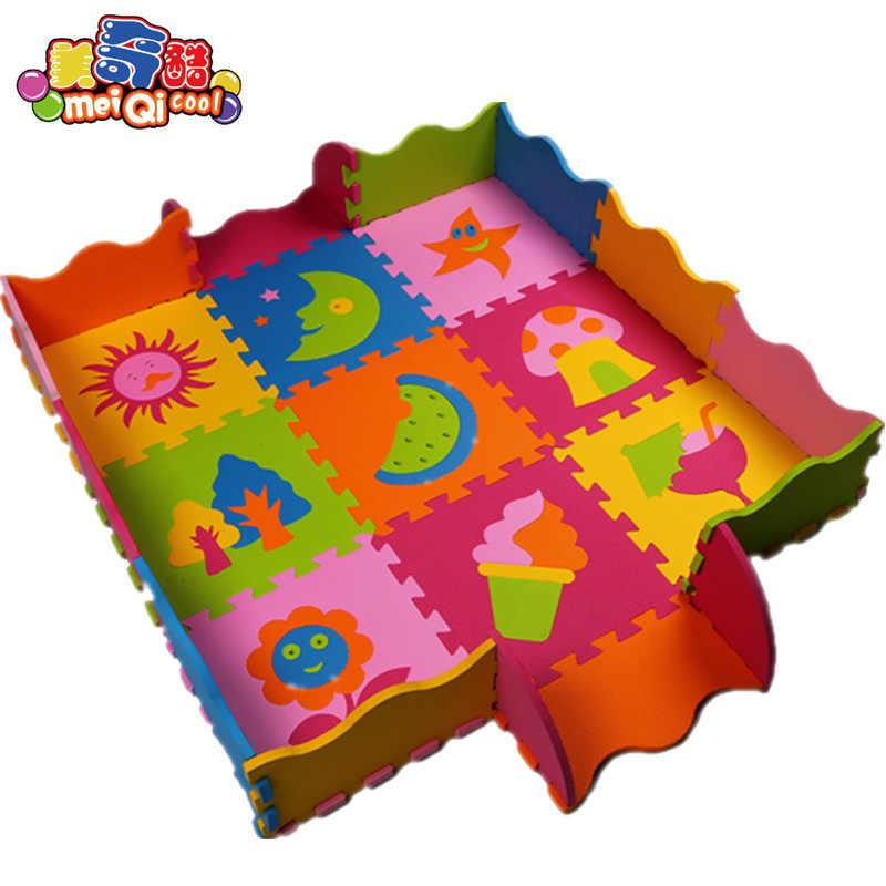 EVA настил для игры из пенопласта коврики детские напольные коврики-пазл заборы ковры Pad игрушечные лошадки для детей окружающей среды 30*30*1 см
