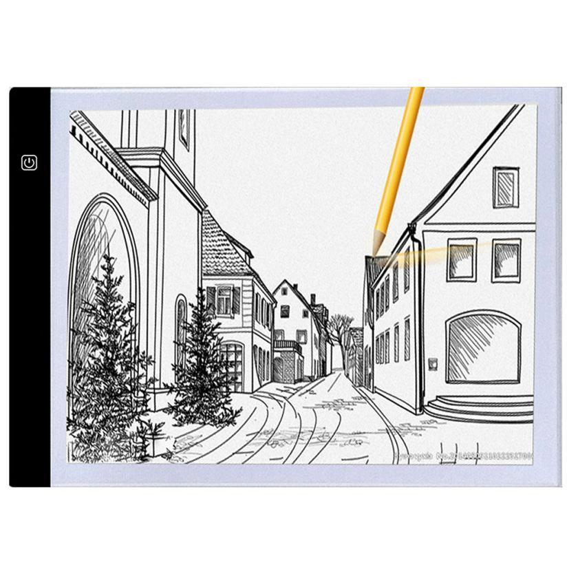 Ultra-sottile A4 Box USB di Alimentazione Ultra-sottile Portatile HA CONDOTTO LA Luce Artcraft Tracing Pad Luce Per Il Disegno di Animazione progettazione