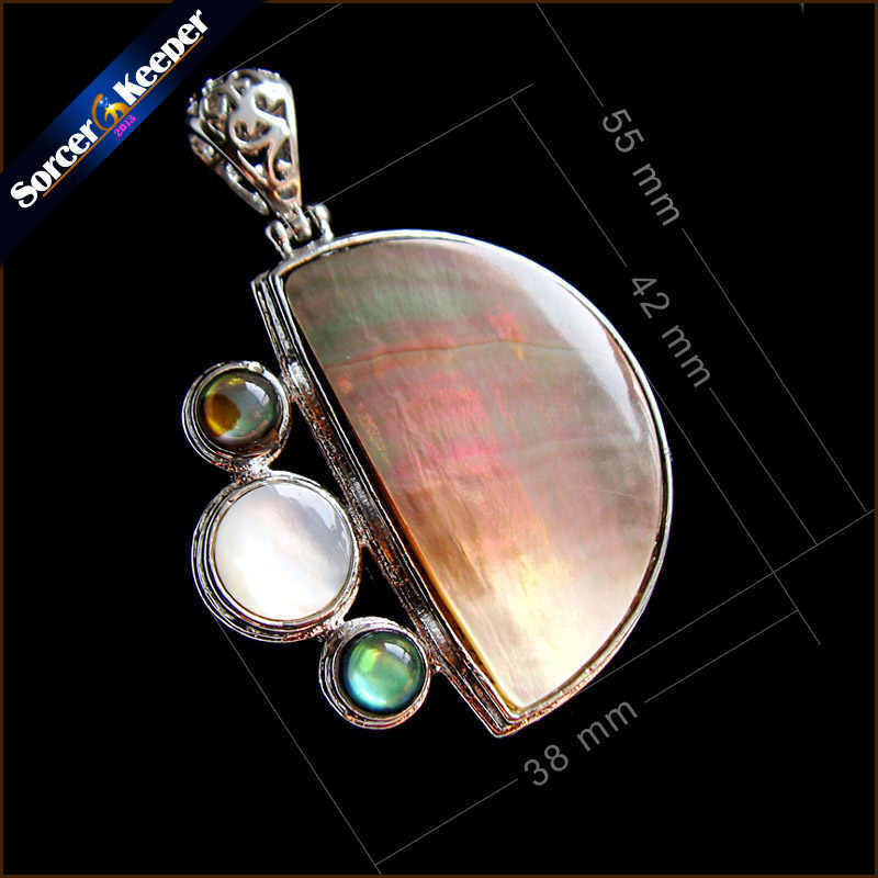Collares New Natural Paua Abalone Shell Necklace Pendants Jewelry New Fashion Bijoux Women Leather Chain Necklaces SKA28
