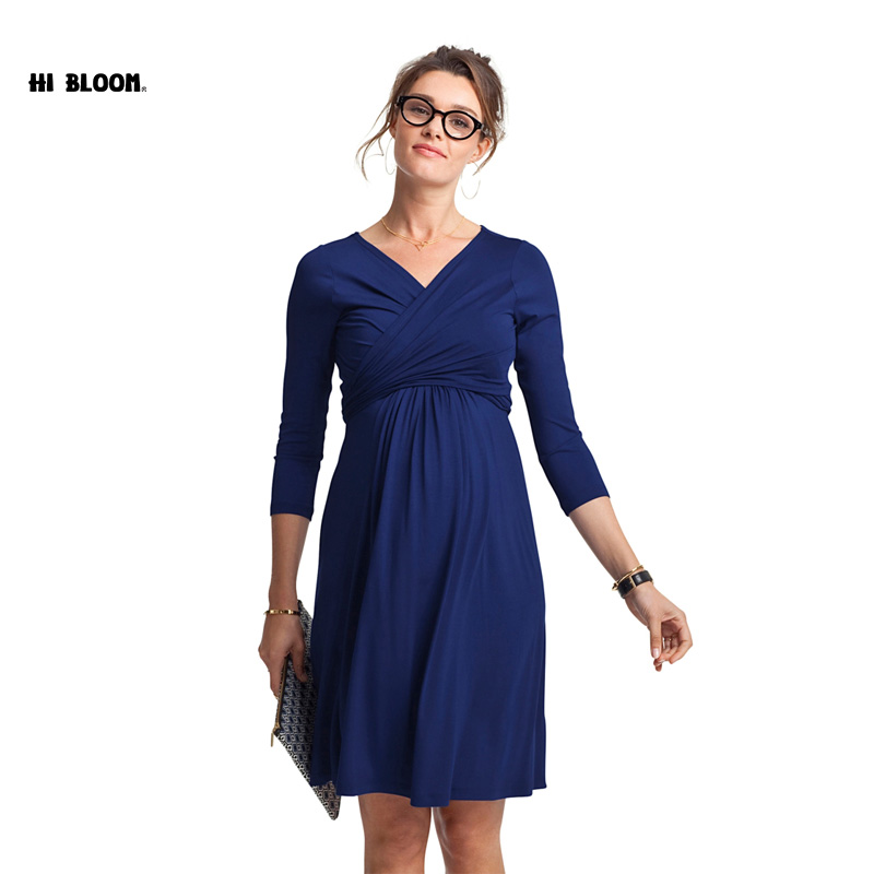Christmas Maternity Clothes Maternity Dress Pregnant Women Plus Size Evening Party Dress Elegant Spring Summer Lady Vestidos 2016 summer new maternity clothes for the pregnant women 100% cotton fashion maternity dress doll dress big size gravida clothes
