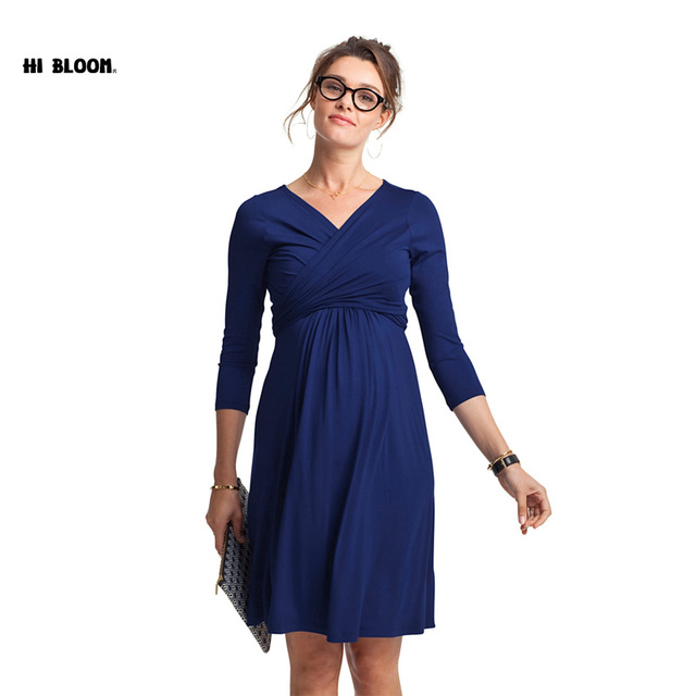 christmas maternity clothes maternity dress pregnant women plus size evening party dress elegant spring summer lady - Christmas Maternity Dresses