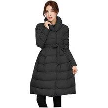 2017 New Women's Medium-Long Down Cotton Parka Fashon Ladies Winter Coat Long Women Warm Outerwear s939