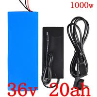 1000W 36V Electric Bike Battery 36V 20AH Lithium Battery 36V 20AH ebike battery with 30A BMS and 42V 2A Charger Free Customs Tax