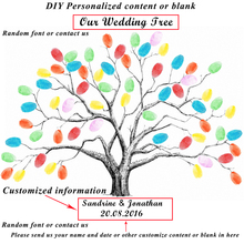 1 Set of Creative DIY Fingerprint Tree Wedding Decoration