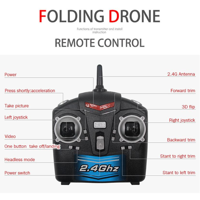 SY X33 Altitude Hold w/ HD Camera WIFI FPV RC Quadcopter Drone Selfie Foldable  Helicopter Toy Remote Controls Quadcopter