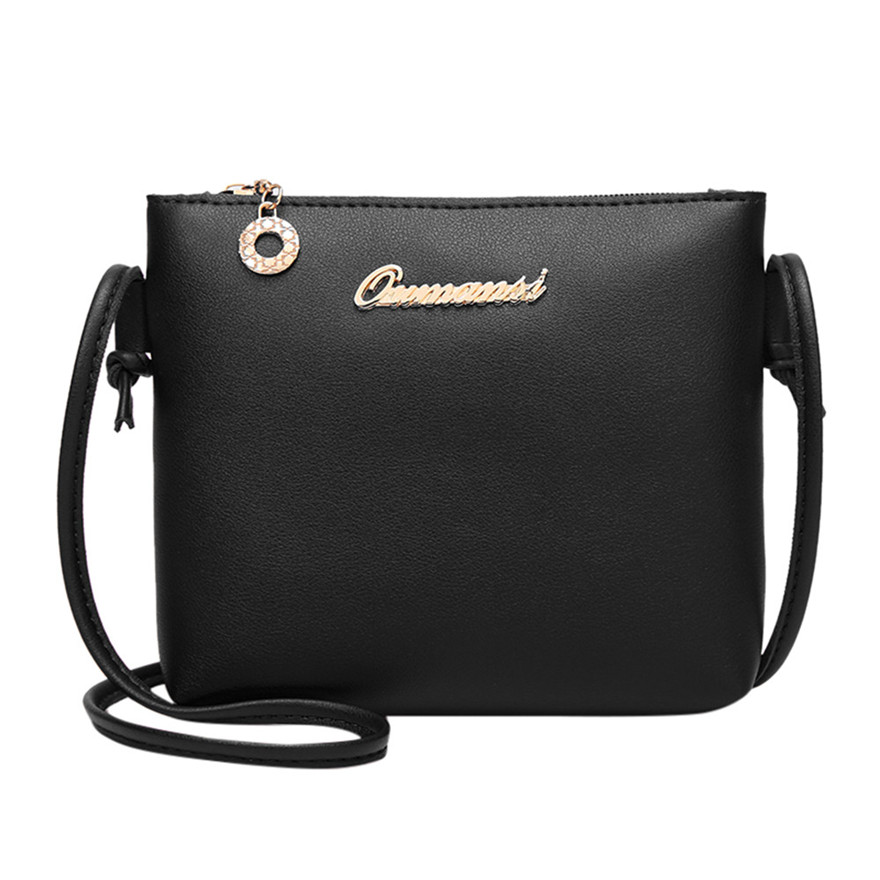 New Arrival Women Fashion Solid Color Crossbody Bag PU Leather Messenger Bag Phone Coin Bag Zipper Embossing Shoulder Bags S
