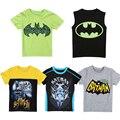 Moda Meninos Batman Roupas de Algodão Primavera Verão T Camisa Nova Do Bebê Dos Desenhos Animados Manga Curta T Crianças Encabeça Crianças Roupas