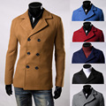 2015 new Male casual fashion clothing autumn/winter perfect slim warm Woolen coat six colours size M-3XL Highlights temperament