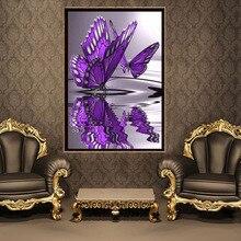 5D DIY Алмазная картина Бабочка Набор для вышивания крестом Кристаллы Круглый бриллиант Вышивка Home