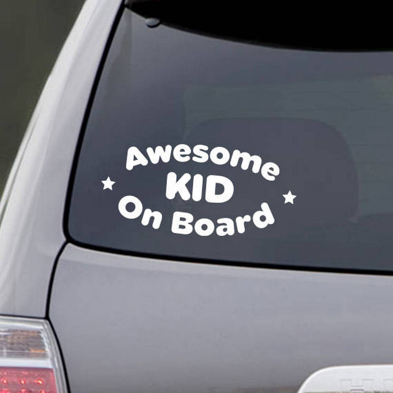 Automobiles & Motorcycles Exterior Accessories Baby On Board Funny Cute Baby Vinyl Car Sticker Warn Sign Auto Body Decoration Clear-Cut Texture
