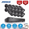 SANNCE 8CH 960H HDMI DVR 700TVL Outdoor CCTV Home Security Camera System