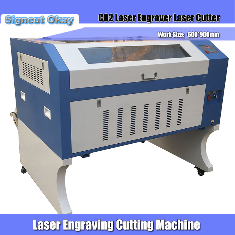 Digital Engraver Laser Cutting Machine 6090 100W With Honeycomb Worktable Usb Interface Motorized Up&down Worktable For Plywood