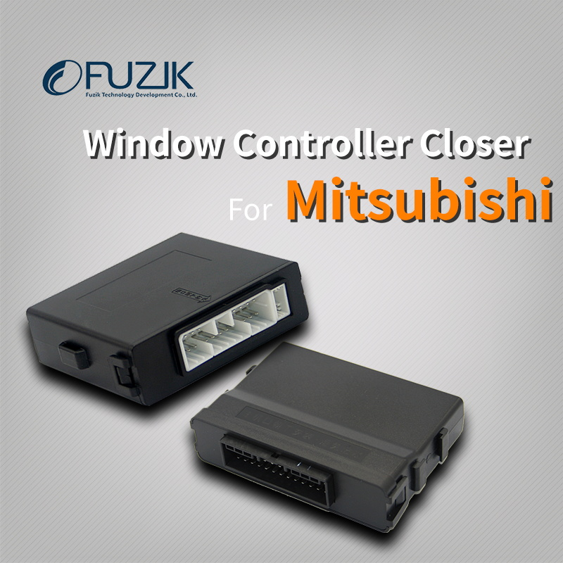 Fuzik Car Power automatic Roll up window closer opener one touch up down for Mitsubishi font