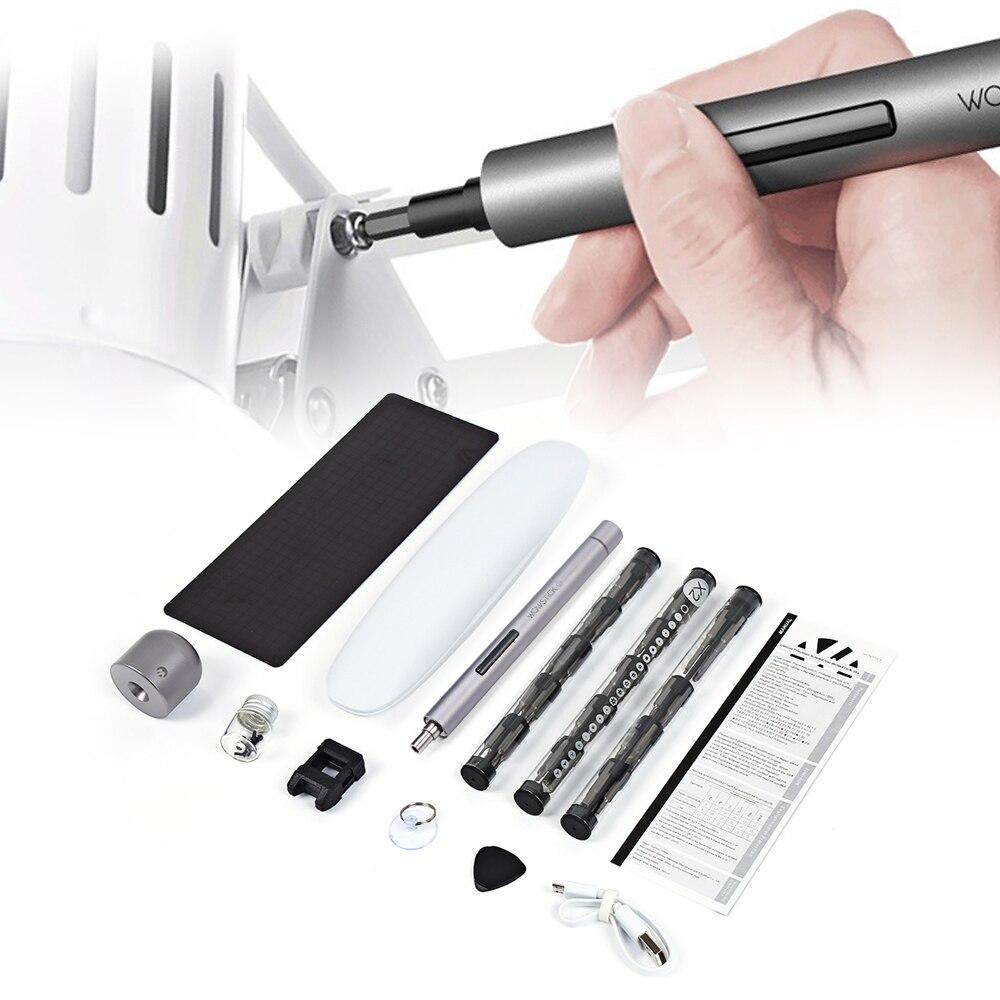Hohe Qualität Wowstick 1 p 1F Pro Elektrische Schraubendreher Kit 56 stücke Bit Set Magnetiseur Mini Präzision Cordless Power Schraube fahrer Kit