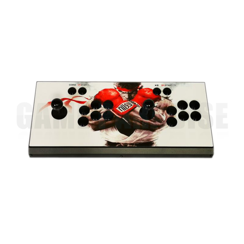 2PCS Pandora's Box 9 Arcade Game Console 1500 in 1 Retro Games Metal Double Stick Console