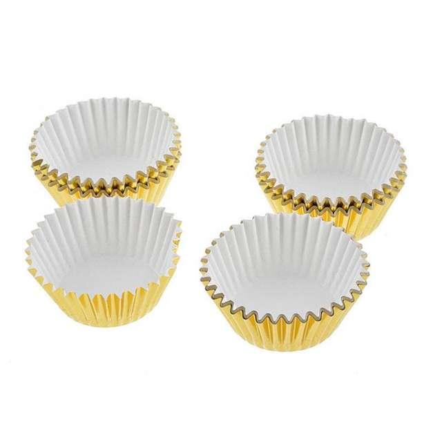 Cupcake's Gold Baking Cup Set 100 Pcs