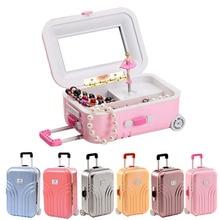 Suitcase Style Music Box Jewelry Storage Box