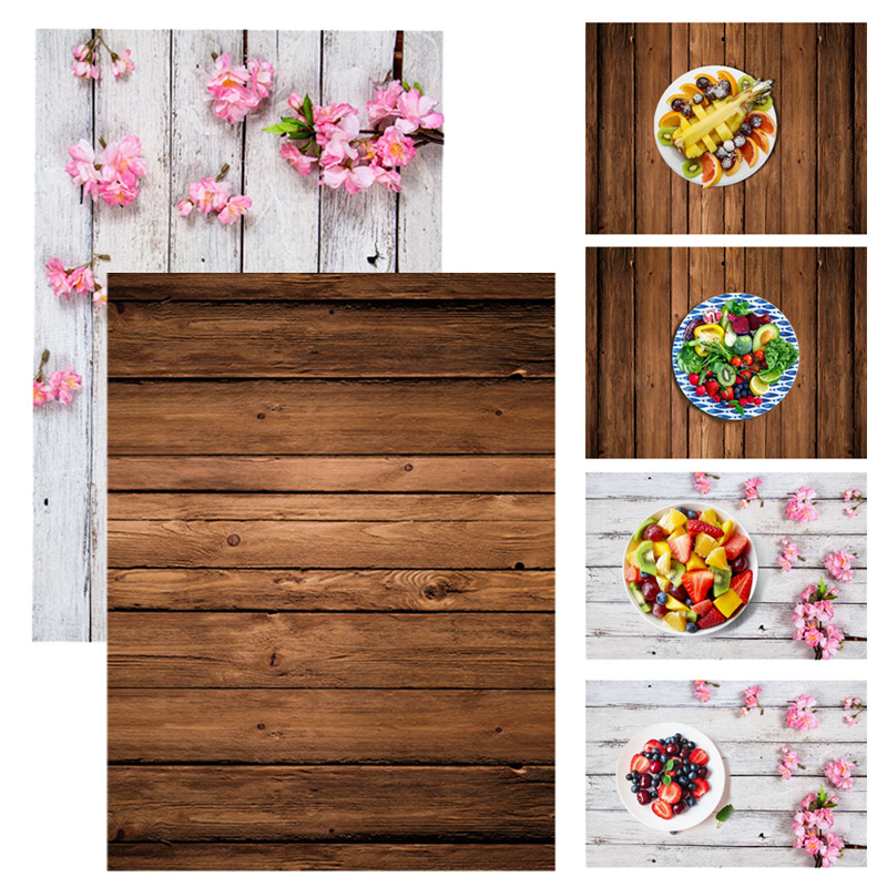 ALLOYSEED Retro Wooden Board Planks Texture Photography Backgrounds Studio Video Photo Background Backdrop Cloth Props For Food