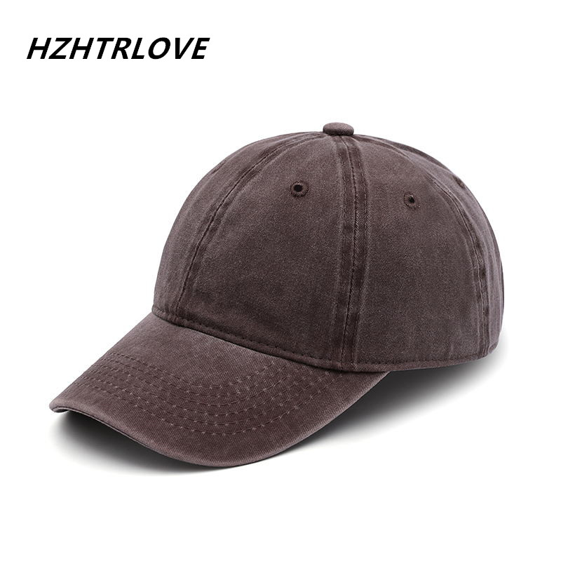 High Quality Washed Cotton Snapback Cap Adjustable Solid Baseball Cap For Men Women Unisex Fashion Leisure Casual Dad HAT